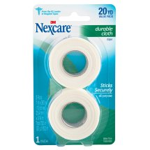 Nexcare Durable Cloth First Aid Tape, From the #1 Leader in U.S. Hospital Tapes, 2 Rolls of 1 in x 10 yds, White