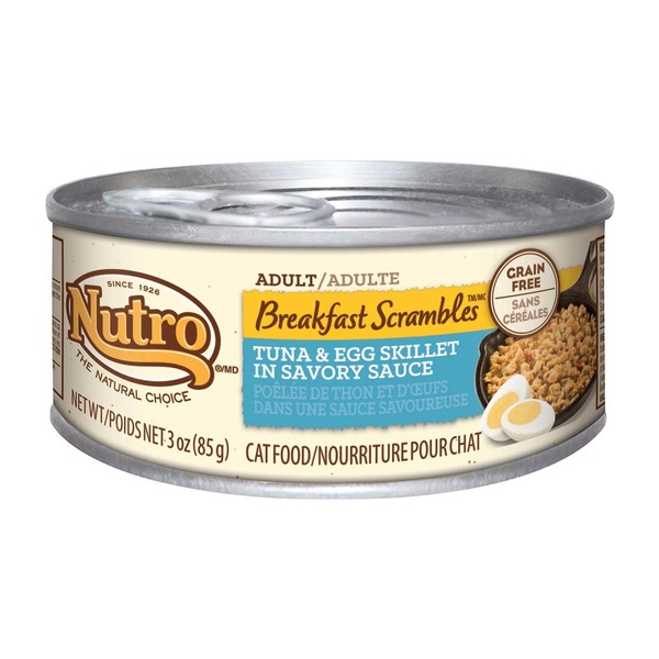 Nutro Breakfast Scrambles Adult Tuna & Egg Skillet in Savory Sauce Cat Food