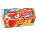 Del Monte Quality Diced Peaches in Strawberry-Banana Flavored Gel, 4.5 oz, 4 count