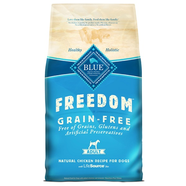 Blue Buffalo Dog Food, Dry, Chicken, Grain Free, Freedom, Adult, Bag