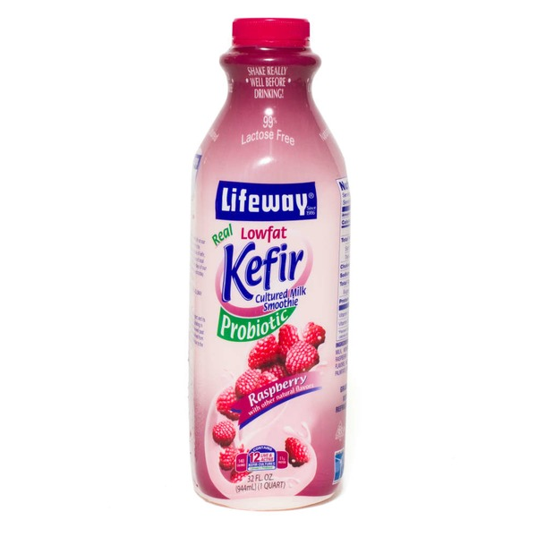 Lifeway Kefir Cultured Milk Smoothie Lowfat Probiotic Raspberry