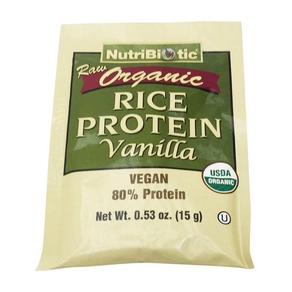NutriBiotic Organic Rice Protein Vanilla Single