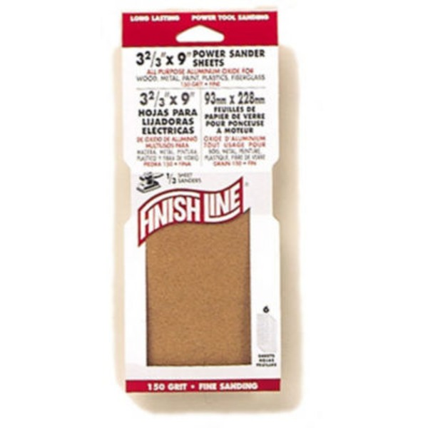 Finish Line 60 Grit Coarse Power Sanding Sheets