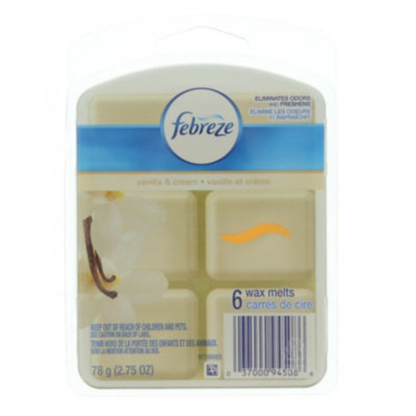 Febreze Wax Melt Febreze® Wax Melts Vanilla & Cream Air Freshener (1 Count, 2.75 Oz)  Air Care