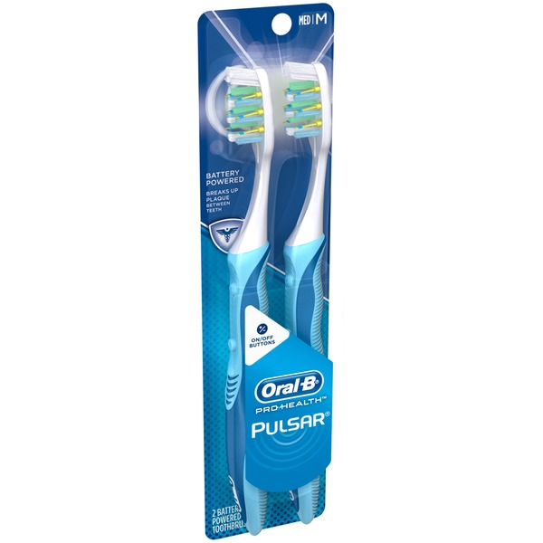 Oral-B Pulsar Oral-B Pulsar Medium Bristle Toothbrush Twin Pack Oral Care