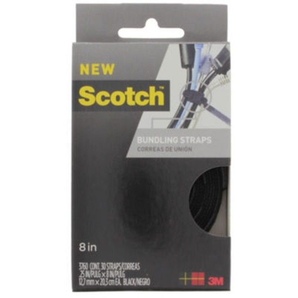 Scotch 8 In. Bundling Straps Black