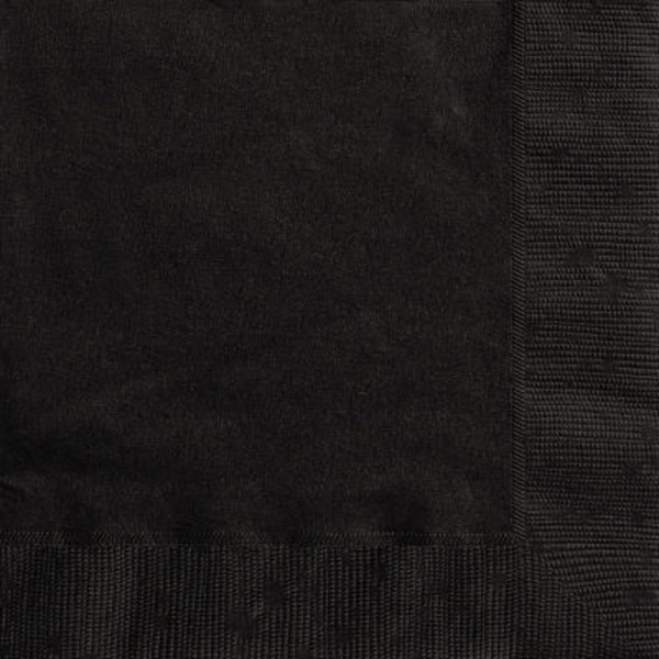 Unique Midnight Black Lunch Napkin
