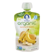 Gerber Organic 2nd Foods Baby Food, Bananas & Squash, 3.5 oz Pouch