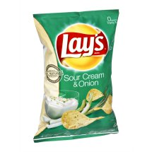 Lay's® Sour Cream & Onion Flavored Potato Chips, 7.75 oz. Bag