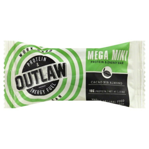 Outlaw Protein & Energy Fuel Cacao Nib Almond Mini Bar