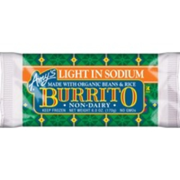 Amy's Light In Sodium Beans and Rice Burrito