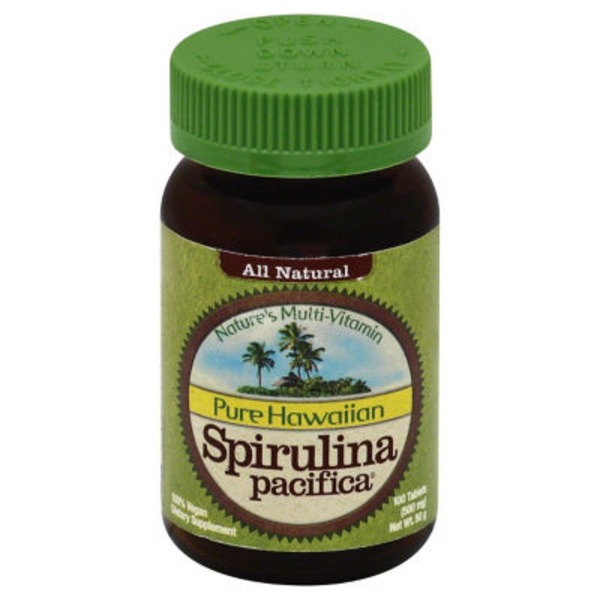 Pure Hawaiian Spirulina Pacifica 500 mg Tablets
