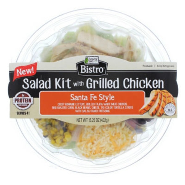 Ready Pac Bistro Salad Kit With Grilled Chicken Santa Fe Style