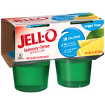 Jell-O Lemon-Lime Sugar Free Low Calorie Gelatin Snacks