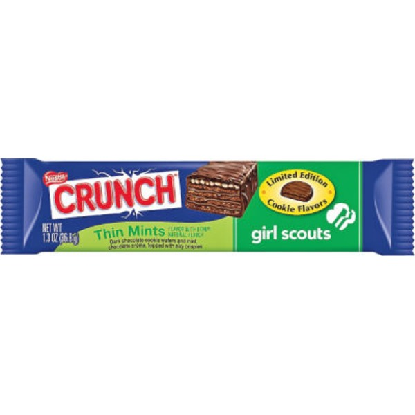 Nestle Crunch Girl Scouts Thin Mints flavor with other natural flavor Candy Bar