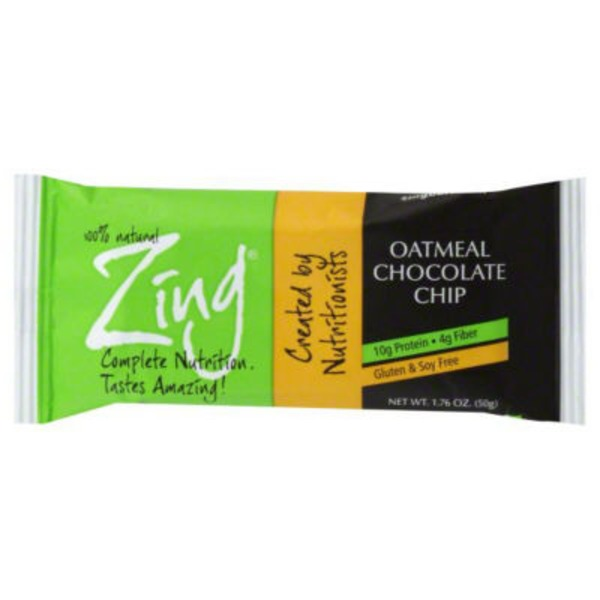Zing Bar, Oatmeal Chocolate Chip