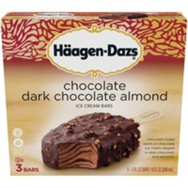 Haagen-Dazs Chocolate Dark Chocolate Almond Ice Cream Bar