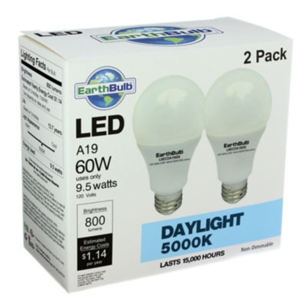 Earthtronics Led 9.5 W A19 Daylight Bulbs