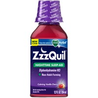 Zzzquil Nighttime Sleep-Aid Calming Vanilla Cherry 12 fl oz  Misc Personal Health Care