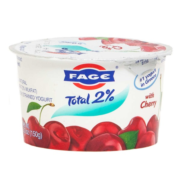 Fage Total 2% with Cherry Lowfat Greek Strained Yogurt