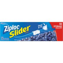 Ziploc Slider Storage Bags, Gallon, 32 Ct
