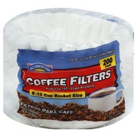 Hill Country Fare Basket Coffee Filters, 8 12 Cup, White