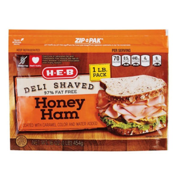 H-E-B Deli Shaved Honey Ham