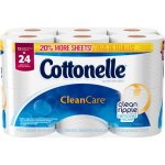 Cottonelle Clean Care Toilet Paper Double Rolls, 190 sheets, 12 rolls