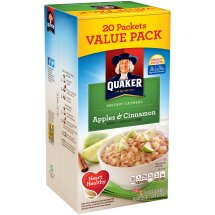 Quaker Apples & Cinnamon Instant Oatmeal, 20 count, 1.51 oz Packets