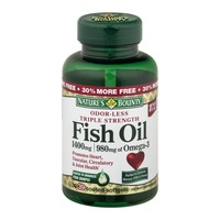 Nature's Bounty Odor-Less Fish Oil Dietary Softgels Triple Strength 1400 mg - 39 CT