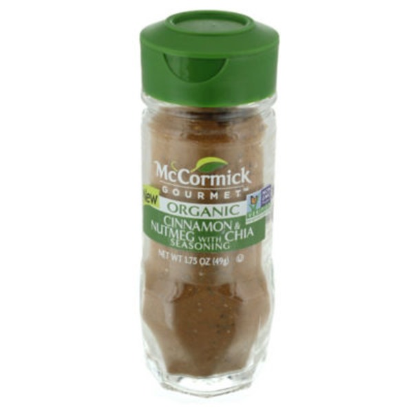 McCormick Gourmet Collection Cinnamon & Nutmeg with Chia Seasoning
