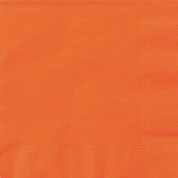 Unique Orange Beverage Napkin