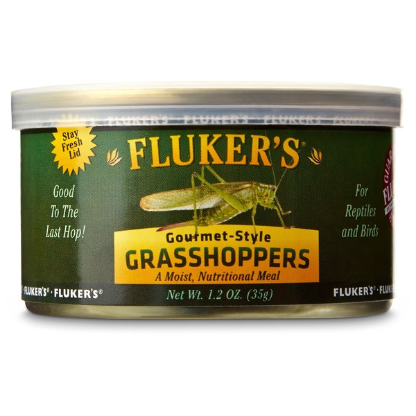 Fluker's Gourmet-Style Grasshoppers for Reptiles and Birds