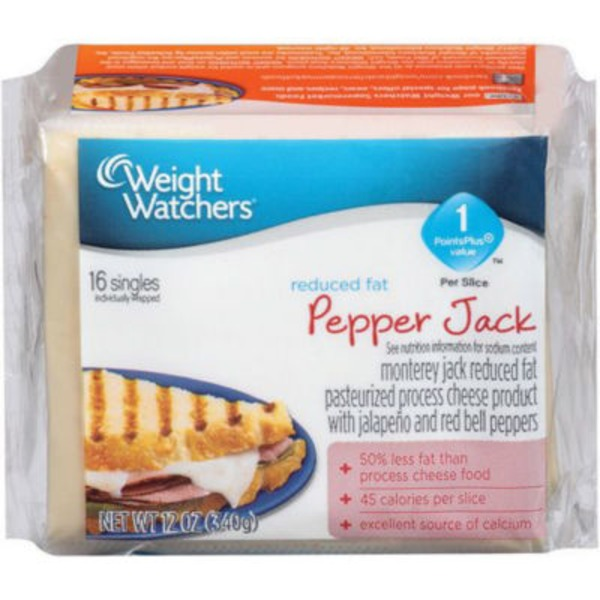 Weight Watchers Reduced Fat Pepper Jack Cheese