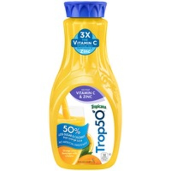 Trop50 Vitamin C & Zinc No Pulp Orange Orange Juice