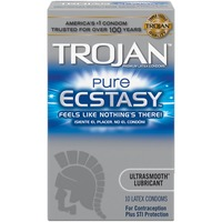 Trojan Ultrasmooth™ Lubricant Condoms Pure Ecstasy
