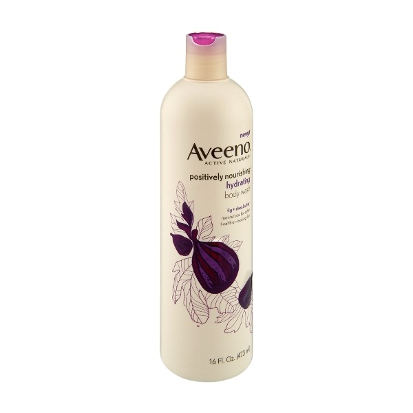 Aveeno Active Naturals Positively Nourishing Hydrating Body Wash,  Fig + Shea Butter