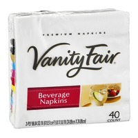 Vanity Fair Napkins Beverage - 40 CT