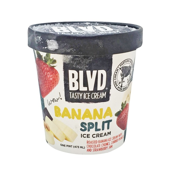BLVD Tasty Ice Cream Banana Split Ice Cream