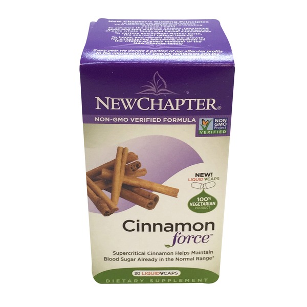 New Chapter Cinnamon Force Caplets