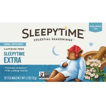 Celestial Seasonings Sleepytime Extra Herbal Supplement, Tea Bags, 20 Ct