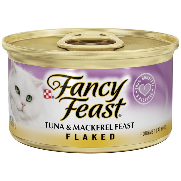 Fancy Feast Wet Flaked Tuna & Mackerel Feast Cat Food