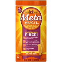 Metamucil Psyllium Fiber Supplement by Meta Orange Smooth Sugar Powder 30.4 oz 72 doses