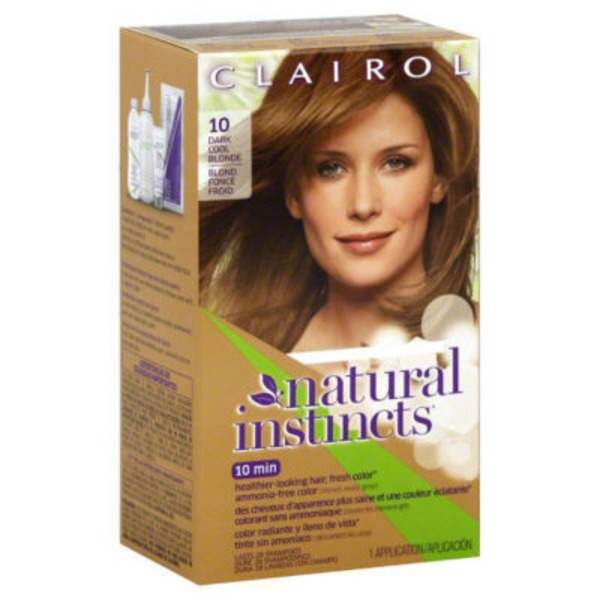 Clairol Natural Instincts, 7A / 10 Sandalwood Dark Cool Blonde, Semi-Permanent Hair Color, 1 Kit Female Hair Color