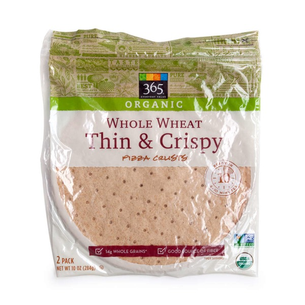365 Organic Whole Wheat Thin & Crispy Pizza Crust