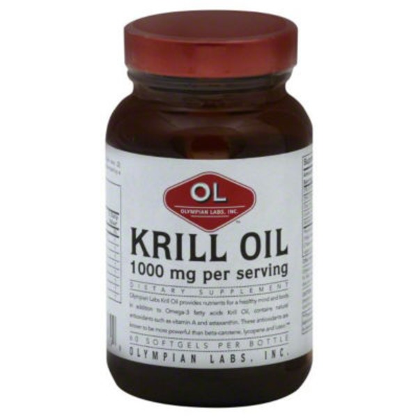 Olympian Labs Krill Oil 1000 mg Softgels