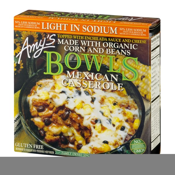 Amy's Bowls Mexican Casserole Light In Sodium