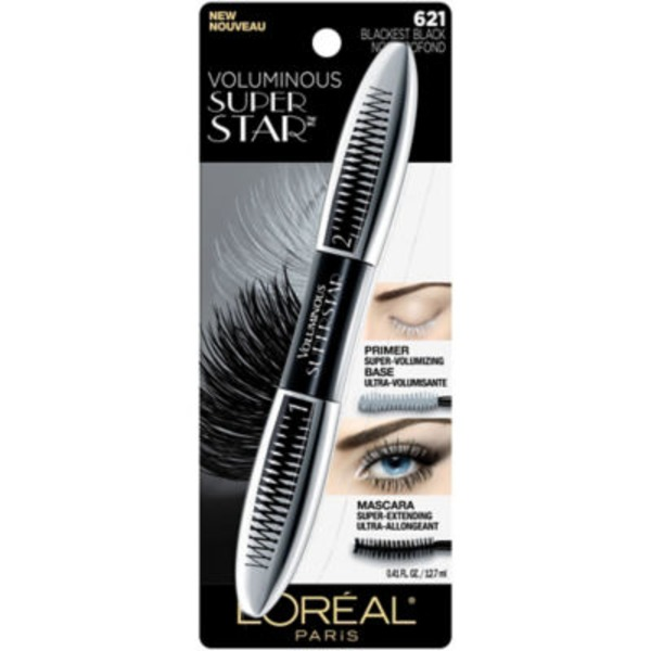 Voluminous Superstar 621 Blackest Black Mascara