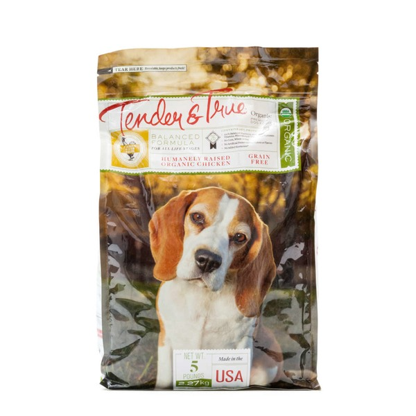 Tender And True Pet Food Organic Chicken & Liver Dog Food