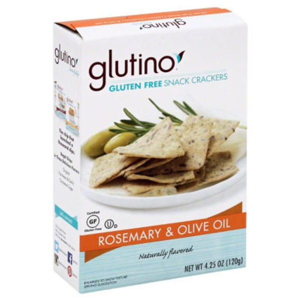Glutino Gluten Free Rosemary & Olive Oil Crackers